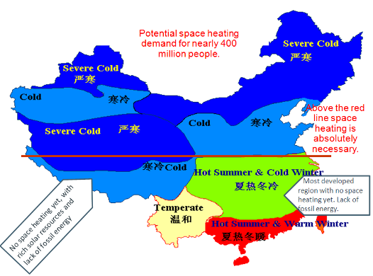 China Space Heating Map