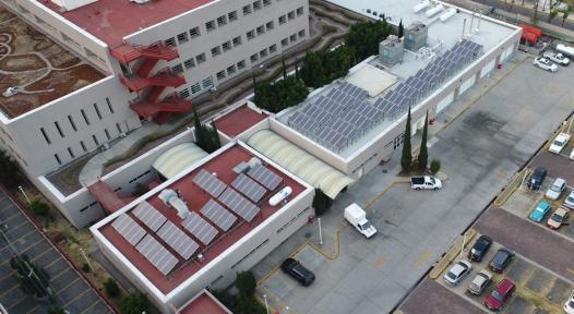Solar heat in 10 Mexico City hospitals