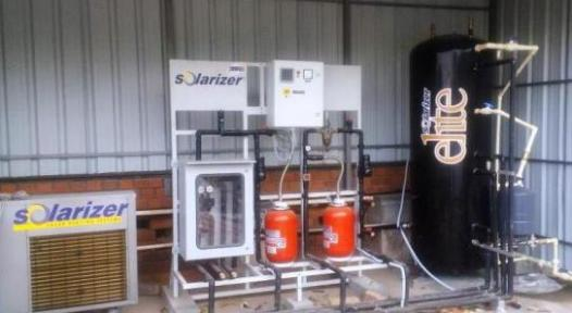 India: Hybrid Solar Heat Pump System Brings Power Consumption down by a Factor 10 on sunny days