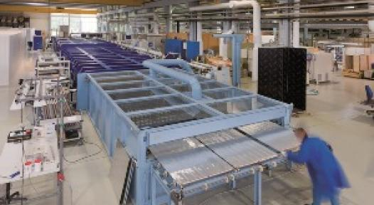 Finland: In-line Coating Machine for complete Direct-Flow Absorbers