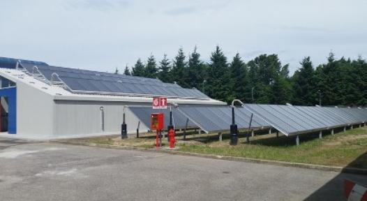 Italy: First Solar District Heating System, 990 m² big