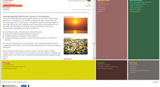 Germany: Web Portal about Seasonal Heat Storage