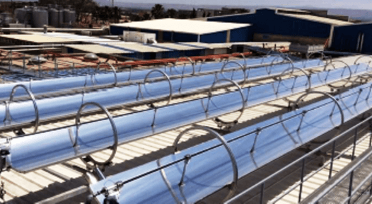Initial pilot plants for industrial solar steam